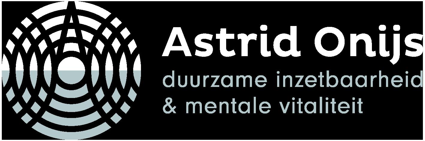 Logo AstridOnijs.nl, Astrid Onijs, duurzame inzetbaarheid, mentale vitaliteit, 1417x472px